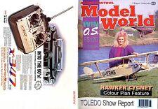 RADIO CONTROL MODEL WORLD MAGAZINE 1990 JUN HAWKER CYGNET, SUPER TIGRE X61