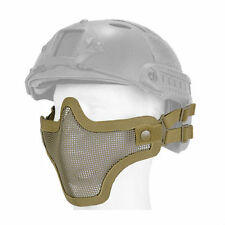 Metal Mesh Half Face Helmet Mask Airsoft Paintball Protective Tactical Gear Tan