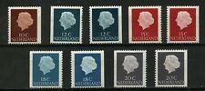 Nederland 617K-621K Juliana en profil gewoon papier uit postzegelboekjes