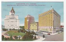 Hotel Vancouver Medical Dental Building Devonshire Apts Canada 1948 postcard