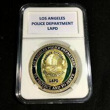 LOS ANGELES LAPD POLICE GOLD FINISH DEPARTMENT Challenge Coin 40mm P20