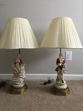 antique french pair lamps