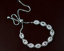 Natural Pink Morganite 5x3 mm Oval Cut Gemstone 925 Sterling Silver Bracelet