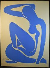 "Henri Matisse (1869-1954) ""Blue Nude"" Screenprint 1952 Open Edition"