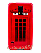 for Samsung galaxy S5 hard back case red english telephone booth cool // s 5