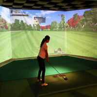 Indoor Golf Ball Simulator Impact Display Projection Zebra Screen 300CM * 200CM