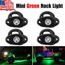 4PCS 9W Green LED Rock Light for JEEP ATV SUV Off-Road Truck Underbody Trail