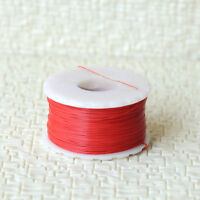 """100 meters 7/0.05 ultra slim Dia. 0.28mm 0.011"""" super thin cable Wire Red"""
