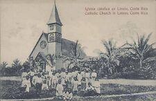 COSTA RICA IGLESIA CATOLICA EN LIMON  ED. MARIA V. DE LINES