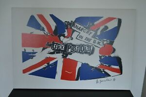 Rare Chance! Sex Pistols Jamie Reid Limited No.11 of 25 Anarchy in the UK Punk