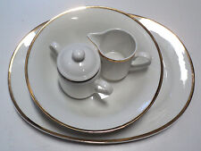 Bob Mackie 4 Piece Ivory Gold Band Porcelain China Dinner Set (See description)