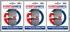 Moto-Guzzi V65 650 Florida 1986 Front & Rear Brake Pads Full Set (3 Pairs)