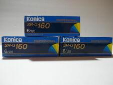 SUPER RARE NEW OLD STOCK 3PK KONICA SR-G ISO 160 120 COLOR NEGATIVE FILM B&W EXP