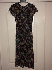 Zara Black Floral Maxi Dress XS Unworn