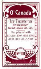 2003-04 Topps C55 Minis O Canada Red #100 Joe Thornton