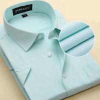 New Men's Shirts Formal Slim Casual Business Short Sleeve Luxury Dress Shirts