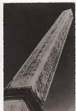 Paris Place de la Concorde l'Obelisque France RP Postcard 272a