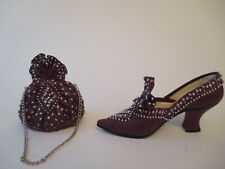 """Lot of 2 pcs: Just the Right Shoe """"Majestic� shoe (25039) and purse (264070) Euc"""