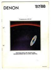 DENON - CATALOGO 1987 - 1988   ESPAÑOL   ORIGINAL CATALOG