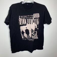 Mens XL Black Fall Out Boy 2015 Boys of Zummer Concert Tour Short Sleeve Shirt