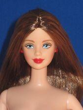 Beautiful nude Barbie mackie face sculpt long brunette hair blue eyes