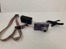 Kodak EasyShare M893 IS 8.1MP Digital Camera - Purple Tested w/ Car Charger