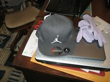 AIR JORDAN Youth Boys Flat Fit Gray Hat, Snap Back, NWT,100% Cotton, MSRP-$20.00
