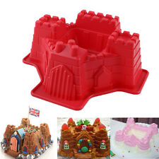 Large Castle Silicone Cake Mold Muffin Pan Pastry Bakeware Baking Tray Mould