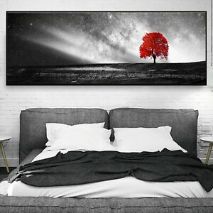 Abstract Black White Art Starry sky Paint Silk Canvas Poster Decor Unframed A692