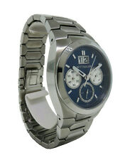 Wittnauer WN3048 Men's Round Blue Chronograph Date Analog Stainless Steel Watch
