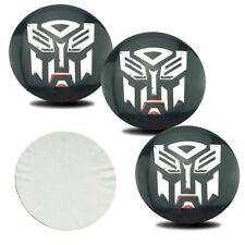 4x 56mm Transformers Autobot Logo Emblem Alloy Car Wheel Center Hub Caps Sticker