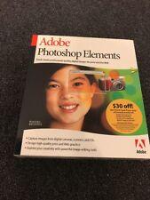 Adobe Photoshop Elements Version 1.0 Windows/Mac Free Shipping