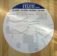Jelco TS-350S/550S & TK-850S/950S Custom Designed Tonearm Alignment Protractor