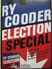 Ry Cooder 2012 election special promotional poster Flawless New Old Stock