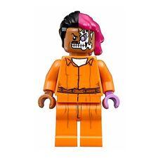 LEGO Batman Two Face Minifigure w/ Arkham Asylum Prisoner Uniform (70912)