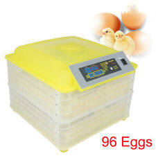 New listing New Digital 96 Egg Incubator Clear Hatcher w/ Automatic Turner Poultry Chicken