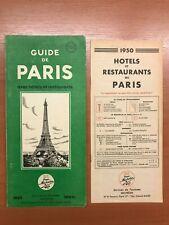 Guide Michelin Paris 1950