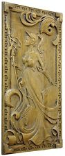 HANDMADE LACQUERED DECORATIVE WOODEN  CARVED WALL PANEL FINE ASH-TREE WOOD
