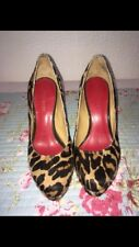 Nine West Estampado de Leopardo Zapatos Tacones. Talla 3