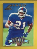 Tiki Barber RC 1997 Pinnacle Rookie Card # 153 New York Giants Football NFL