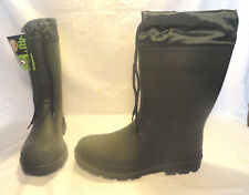 OZARK TRAIL, MENS -40F INSULATED GREEN RUBBER WINTER BOOTS, SIZE 9, BRAND NEW