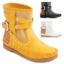 Stivali indianini donna scarpe tronchetti estivi bassi traforati TOOCOOL Q8AX06