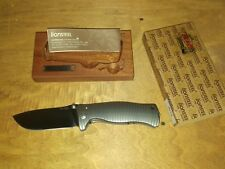 COLTELLO KNIFE LION STEEL SR1 TITANIUM GREY SLEIPNER STEEL NIB LIONSTEEL