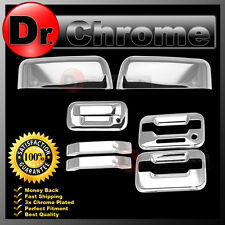 09-14 Ford F150 Chrome HALF Mirror+2 Door Handle+keypad+no PSG KH+Tailgate Cover