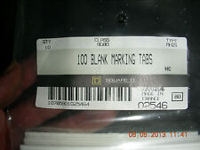 Squared D 100 blank Marking Tabs Pn: 9080-Mh21