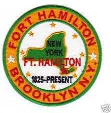 US ARMY POST PATCH, FORT HAMILTON, BROOKLYN,  NEW YORK,    Y
