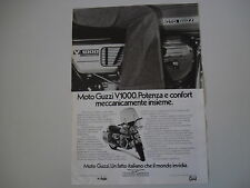 advertising Pubblicità 1977 MOTO GUZZI V 1000 V1000 I-CONVERT