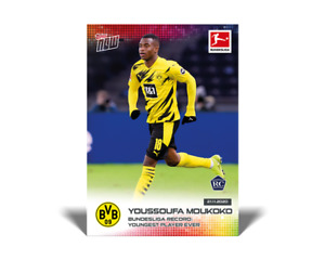 2020 TOPPS NOW BUNDESLIGA #45 YOUSSOUFA MOUKOKO - YOUNGEST PLAYER EVER