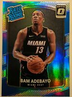 BAM ADEBAYO 2017-18 Donruss Optic Holo Silver Prizm Rated Rookie RC HEAT HOT 🔥