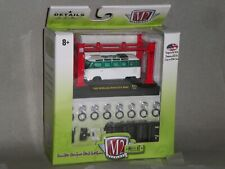 1/64th M2 Machines Model Kit 1959 VW Microbus Deluxe USA Model White/Green